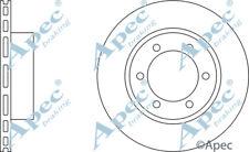 FRONT BRAKE DISCS (PAIR) FOR TOYOTA LAND CRUISER PRADO GENUINE APEC DSK2022