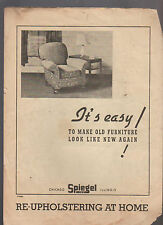 Spiegel Re-Upholstering At Home 1930s Brochure Make Old Furniture Look New Again