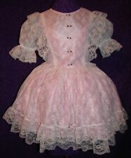 Enchanting Lace and Pink Satin Sissy Lolita Adult Baby Custom Aunt D
