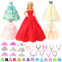 Barwa Random 5 sets of big skirts + random 10 shoes + 6 necklaces + 6 crowns