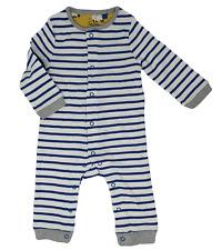 New Ex Baby Boden Blue Stripe Baby Grow Romper Was £28 Now £7.99