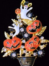 JACK LANTERN GHOST PUMPKIN HALLOWEEN CHRISTMAS TREE TOPIARY PIN PENDANT JEWELRY