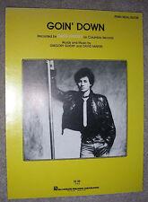 1980 GOIN' DOWN Sheet Music by GREG GUIDRY, David Martin PIANO/VOCAL/GUITAR