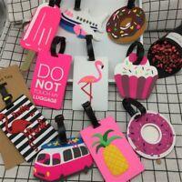 Travel Accessories Creative Baggage Boarding Tags Luggage Tag Animal Cartoon Sil