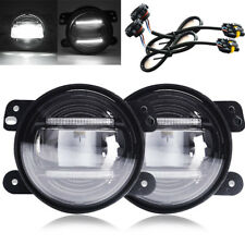 "Pair 4""INCH DRL LED FOG LIGHT Driving FOR 2010--2012 Dodge Journey Dodge Magrum"