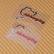 2pcs Nurburgring Emblem Sticker Decal for Motor Sport Car Silver Red Sticker FR