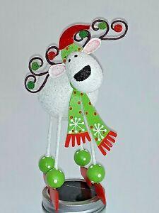 2 Pier one Christmas reindeer holder set