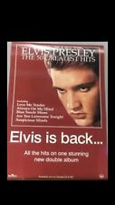 ELVIS PRESLEY THE 50 GREATEST HITS RECORD SHOP PROMOTIONAL POSTER