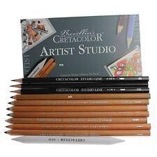CRETACOLOR artista Studio Line Disegno Set 101 Charcoal GESSO livellata