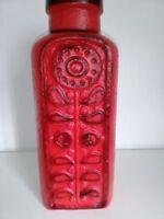 Keramik Vase CARSTENS Luxus Relief rot Floorvase Bodenvase Fat Lava WGP 7691- 40