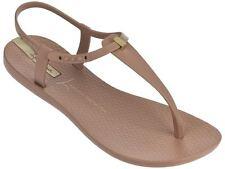 Ipanema Women`s Flip Flops Premium Lenny Desire Brown (Tan) Brazilian Sandal NWT