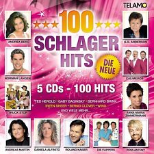 100 SCHLAGER HITS-DIE NEW!E - BERG,ANDREA/CALIMEROS/KAISER,ROLAND/+   5 CD NEW!