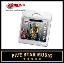 GOLD Schaller Straplock Set Lock for Guitar Strap NEW Straplocks