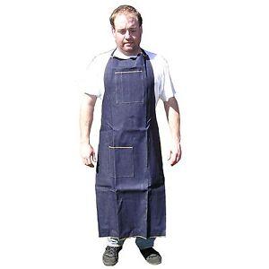 HAWK AD019 Blue Denim Apron Long Knee High Wood Working Shop Home Catering