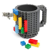 DIY Creative Brick Lego Puzzle Mug Coffee Cup Build-on Building Block Tea Cup