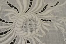 Vintage Heavily EMBROIDERED Linen TABLECLOTH