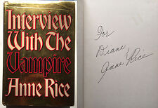 Interview With the Vampire Anne Rice SIGNED 1976 First Edition w/ dj Lestat