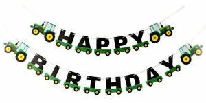 Tractor Happy Birthday Banner Farm Tractor Home DIY Birthday Party Decorations