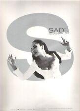 "SADE No Ordinary Love  UK magazine Press ADVERT 12x9"""