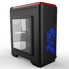 CiT Lightspeed Black Midi Tower Gaming Case - USB 3.0