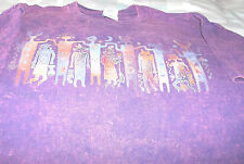 Southwest Figures T-Shirt Multicolor Maroon Cotton Size L Gildan Mottled Unisex