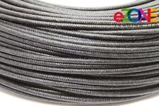 2 mm résistant à la chaleur haute température fibres de verre Fils Câble, Noir 10m friteuse