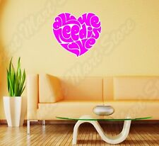 """All We Need Is Love Heart Beatles Wall Sticker Room Interior Decor 22""""X22"""""""