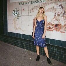 Zodiac Celestial Blue Satin Maxi Dress Sling Realisation Embroidery Dresses UK