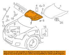 TOYOTA OEM 09-13 Matrix Hood-Insulation Pad Liner Heat Shield 5334102230