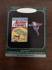 1998 Superman Commemorative Edition Hallmark Ornament Set of 2 Ornaments NIB
