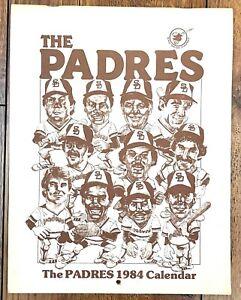 Padres 1984 player drawings 8 1/2 x 11 calendar Garvey Gwynn Bevacqua Flannery