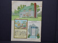 Houses, Homes, American Builder c.1927, One Double Sided Print #12