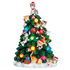 Color Changing Lighted Cat Christmas Tree Figurine, by Collections Etc