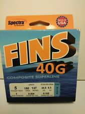 Fins 40g Composite Superline 150yds NEW 5lb braid  test line blue spectra