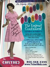 Gorgeous Grammy Winner Connie Francis Signed Poster COA JSA