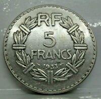 KM# 888 - 5 francs lavrillier 1933 - SUP - monnaie France - N6498