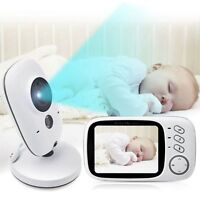 "2-Way Talk 3.2"" Digital Wireless Baby Monitor Night Vision Video Audio Camera RX"