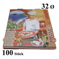 100 Pizzakartons 32 x 32 x 4cm Pizzakarton Pizzabox Karton für Pizza Box Kraft