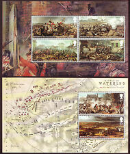 GREAT BRITAIN 2015 BATTLE OF WATERLOO SET OF 6, 2 PANES,  UNMOUNTED MINT, MNH