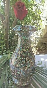 Unavoidable Vase Just One Piece Mother Of Pearl Hand Made Home Décor Incredible