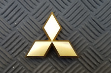 OEM Mitsubishi Body/Dash/Trunk Emblem. RARE Gold Color. 5.8cm