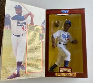 """1997 Starting Lineup Cooperstown Collection Jackie Robinson 12"""" Poseable Figure"""