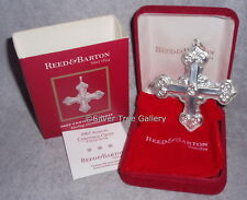 2007 Reed Barton 37th Annual Sterling Silver Christmas Cross Ornament Pendant