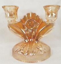 Iris & Herringbone Candlestick Marigold Jeannette Double Candle Holder Vintage