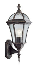 Searchlight 1565 CAPRI Rustic Brown Outdoor Wall Light/Bevelled Glass IP44