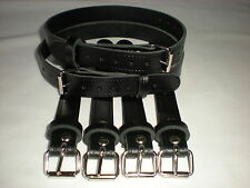 Dolls Pram Coach built vintage pram real leather  suspension straps in Black