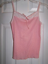 ABERCROBIE & FITCH PINK CAMI CAMISOLE 100% COTTON TOP SZ L GIRLS