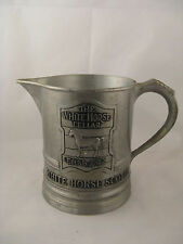 White Horse Scotch Advertising Small Pitcher, Steel or Pewter, Vintage