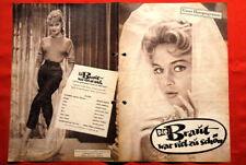 BRIDE IS TOO BEATIFUL BARDOT 1956 GERMAN MOVIE PROGRAM