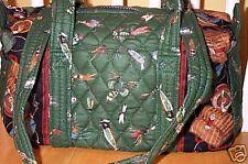 Vera Bradley Retired Rare Green Lures Classic Handbag